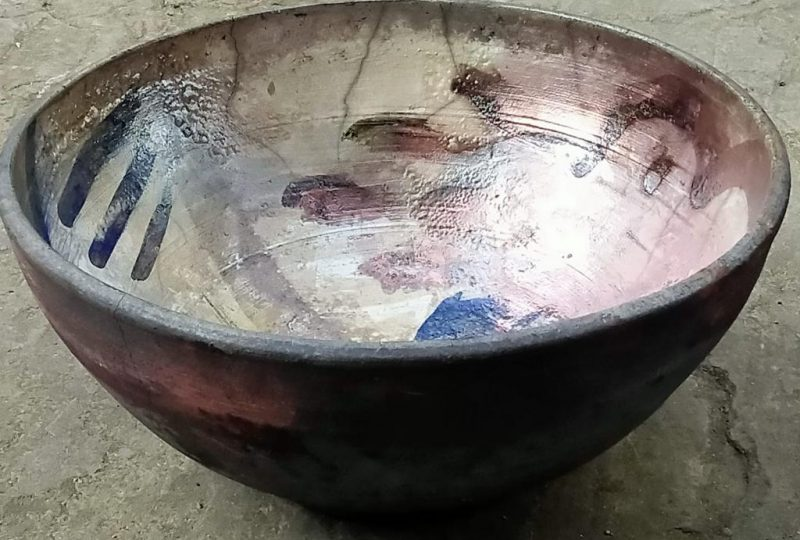Raku glazed and fired bowl, one day course, The Shire Workshops